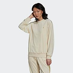 Women's adidas Originals Velvet Embossed Monogram Crewneck Sweatshirt