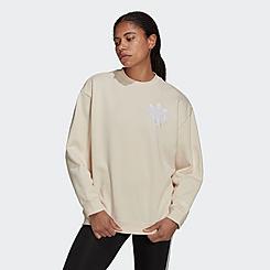 Women's adidas Originals Trefoil Fringe Sweatshirt