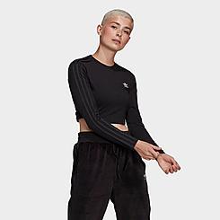 Women's adidas Originals Crop Long Sleeve T-Shirt