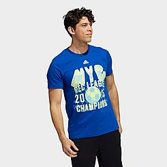 Men's adidas Sportswear New York 3D Logo Badge of Sport Graphic T-Shirt