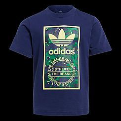 Boys' Infant and Toddler adidas Originals Camo-Infill Trefoil Graphic T-Shirt