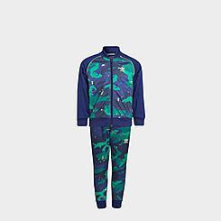 Boys' Little Kids' adidas Originals Allover Print Camo SST Track Suit