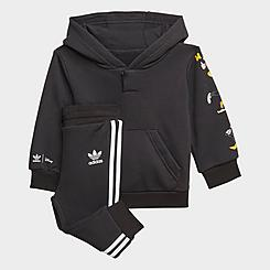 Kids' Infant and Toddler adidas Originals Disney Mickey and Friends Hoodie and Joggers Set