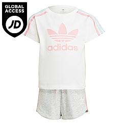 Girls' adidas Originals 3-Stripes T-Shirt and Shorts Set