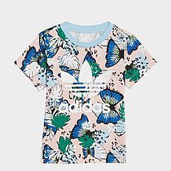 Girls' Infant and Toddler adidas Originals HER Studio London Animal Flower Print T-Shirt