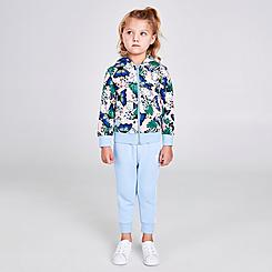 Girls' Infant and Toddler adidas Originals HER Studio London Animal Floral Full-Zip Hoodie and Jogger Pants Set