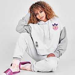 Women's adidas Originals Logo Play Cropped Hoodie