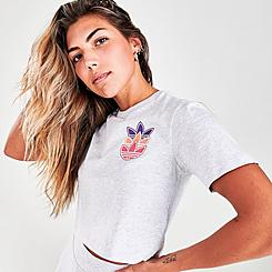 Women's adidas Originals Logo Play Crop T-Shirt