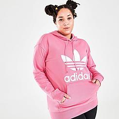 Women's adidas Originals Trefoil Hoodie (Plus Size)