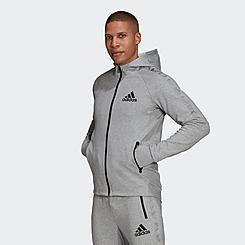 Men's adidas AEROREADY Designed To Move Motion Full Zip Training Hoodie