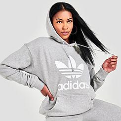 Women's adidas Originals Heritage Trefoil Logo Hoodie