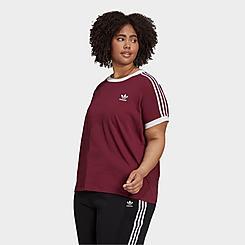 Women's adidas Originals Adicolor Classics 3-Stripes T-Shirt (Plus Size)