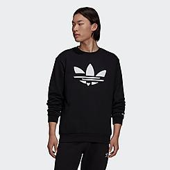 Men's adidas Adicolor Shattered Trefoil Graphic Crewneck Sweatshirt