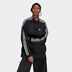 Women's adidas Originals Adicolor Classics Satin Half-Zip Track Jacket