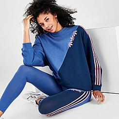 Women's adidas Originals Adicolor Sliced Trefoil Crew Sweatshirt