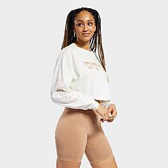 Women's Reebok Classics Long-Sleeve Cropped T-Shirt