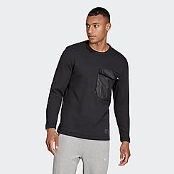 Men's adidas Sportswear Waffle Knit Pocket Crewneck Sweatshirt