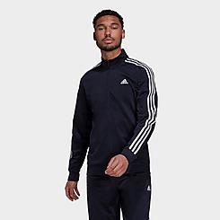Men's adidas Primegreen Essentials Warm-Up 3-Stripes Track Jacket