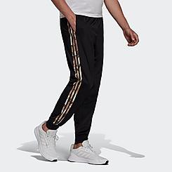 Men's adidas Primegreen Essentials Warm-Up Tapered 3-Stripes Track Pants