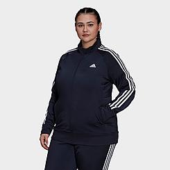 Women's adidas Essentials Primegreen Warm-Up Track Jacket (Plus Size)
