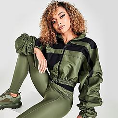 Women's Reebok Cardi B Woven Satin Jacket