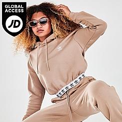 Women's adidas Originals Tape Cropped Hoodie