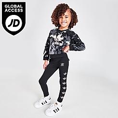 Girls' Infant and Toddler adidas Originals Tie-Dye Crewneck Sweatshirt and Leggings Set