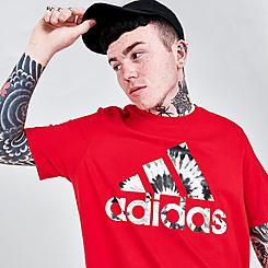 Men's adidas Tie-Dye Badge of Sport Logo T-Shirt