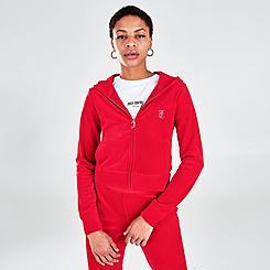Women's Juicy Couture Bling Velour Full-Zip Hoodie