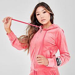 Women's Juicy Sport Velour Full-Zip Hoodie