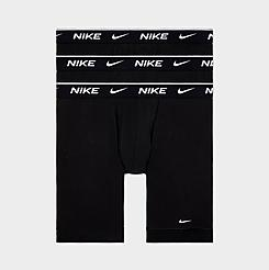 Men's Nike Underwear Long Cotton Boxer Briefs (3-Pack)