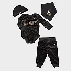 Boys' Infant Jordan 4-Piece Bodysuit and Jogger Pants Asahd Khaled Box Set