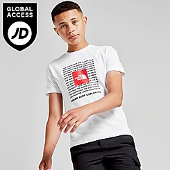Boys' The North Face Logo Lines Boxed Print T-Shirt