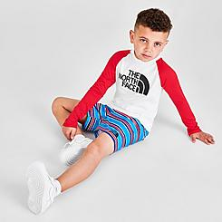 Toddler and Little Kids' The North Face Long-Sleeve T-Shirt and Shorts Sun Set