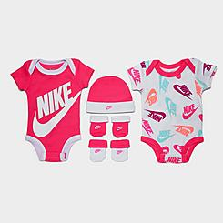 Infant Nike Futura Allover Print 5-Piece Bodysuit, Beanie Hat and Socks Set