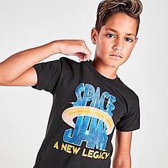 Kids' Mitchell & Ness Space Jam Galactic Logo T-Shirt