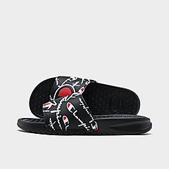 Little Kids' Champion Super Slide Mega Script Slide Sandals