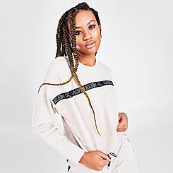 Women's Calvin Klein Logo Tape Crewneck Sweatshirt