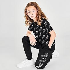 Kids' Puma Repeat Logo Jogger Pants