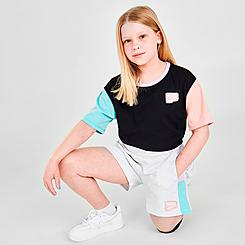 Girls' Puma Panel French Terry Shorts