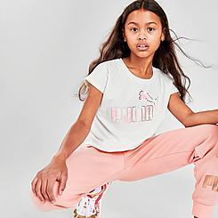 Girls' Puma Logo Pack T-Shirt