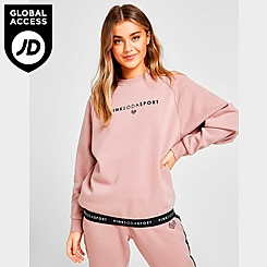 Women's Pink Soda Sport Tape Crewneck Sweatshirt