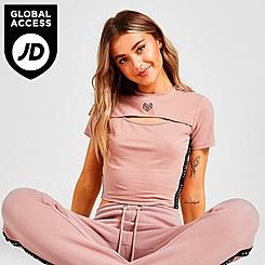 Women's Pink Soda Sport Keyhole T-Shirt