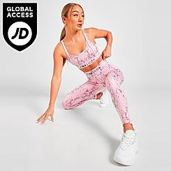 Women's Pink Soda Sport Python Tights