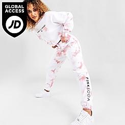 Women's Pink Soda Sport Tie-Dye Jogger Pants