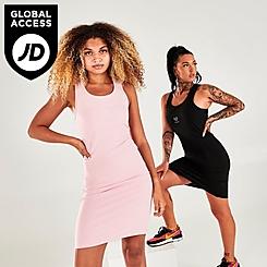 Women's Pink Soda Logo Racer Dress