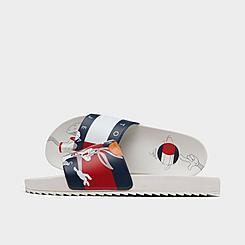 Big Kids' Tommy Hilfiger x Space Jam Bugs Bunny™ B-Ball Slide Sandals