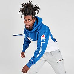 Men's Champion Vintage Script Colorblock Hoodie