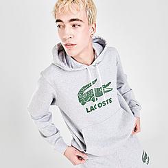 Men's Lacoste Crackled Print Logo Fleece Hoodie