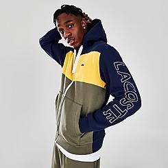 Men's Lacoste Colorblock Fleece Full-Zip Hoodie